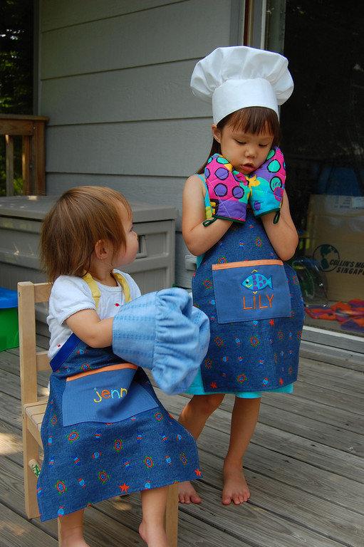 Как сшить детский ? фартук в садик с выкройками и описанием поэтапно