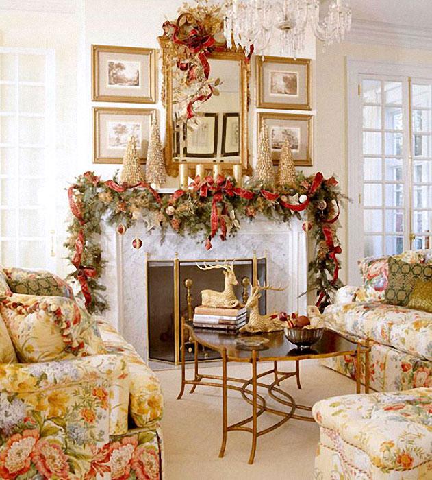 Новогодний декор комнаты своими руками - 55 фото лучших подделок для новогоднего интерьера