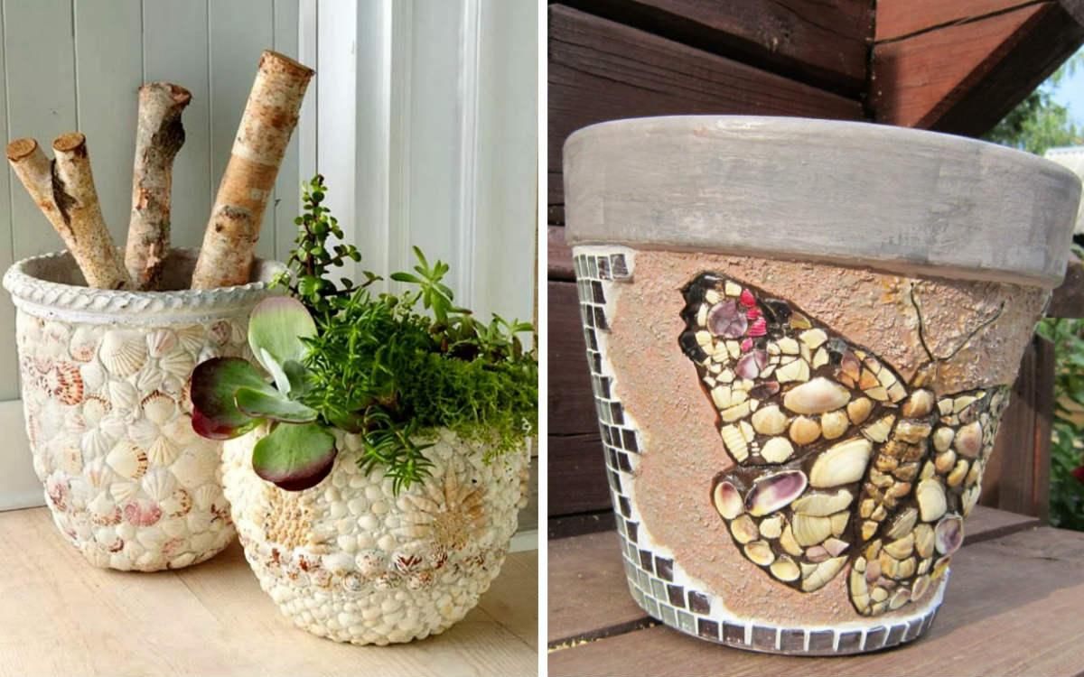 25 идей декора цветочных горшков своими руками
