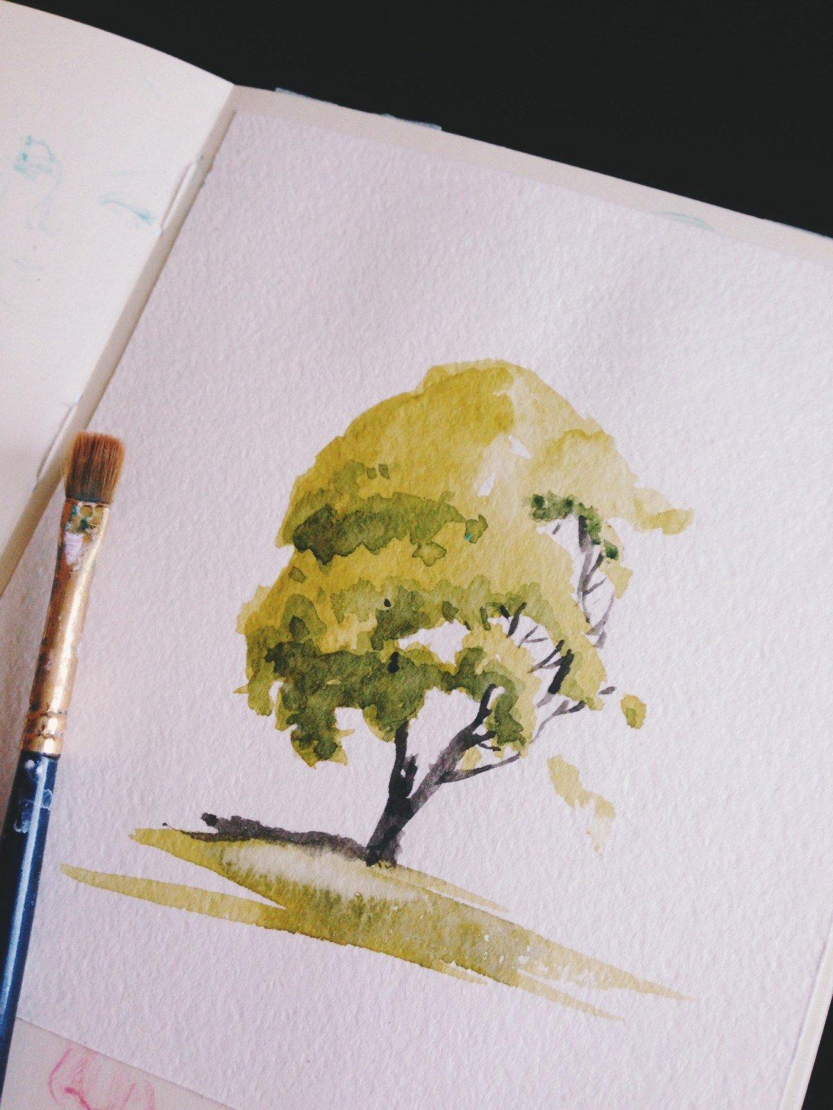 Как рисовать акварелью? 7 лёгких рисунков акварелью для начинающих