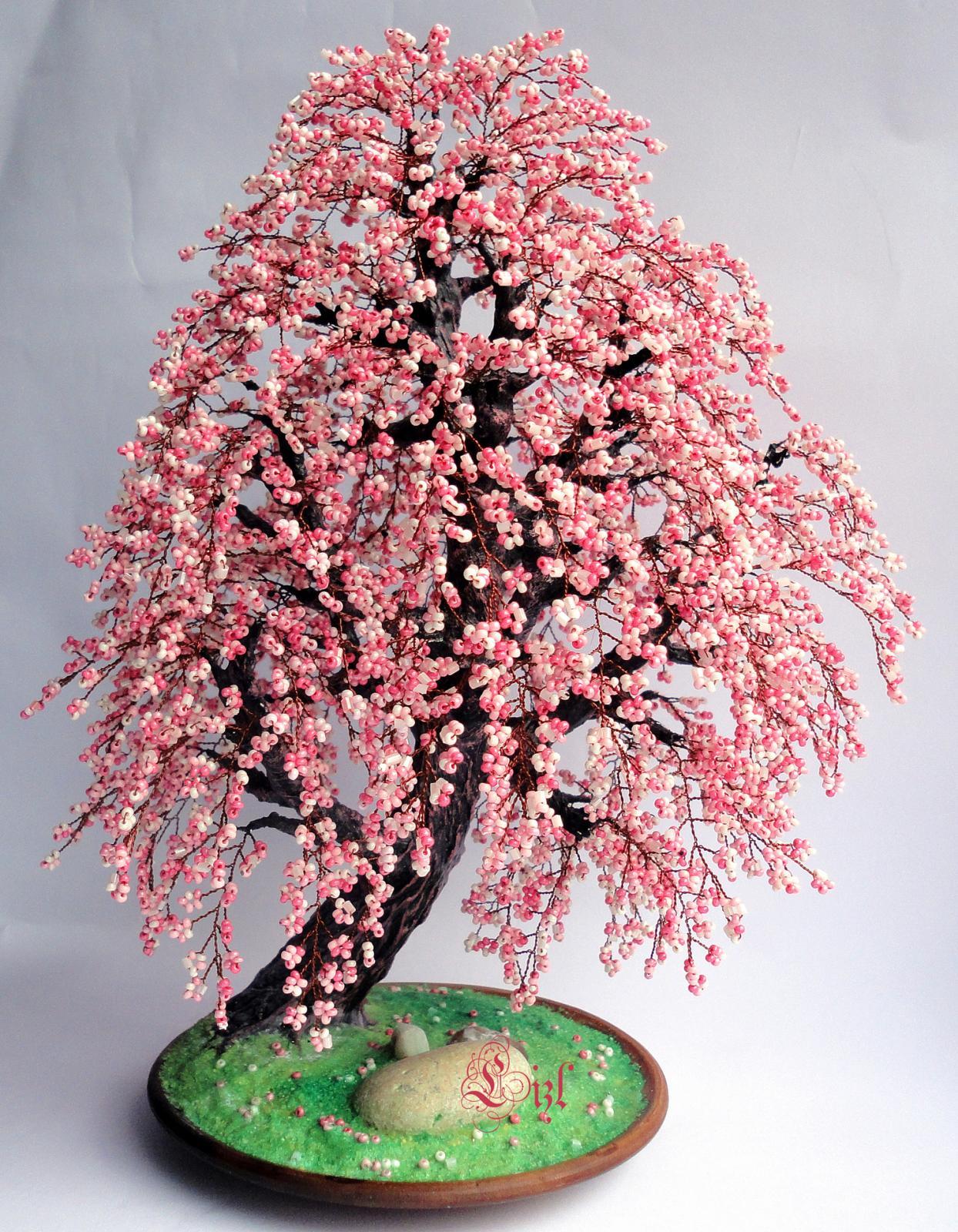Дерево из бисера - схемы и описание