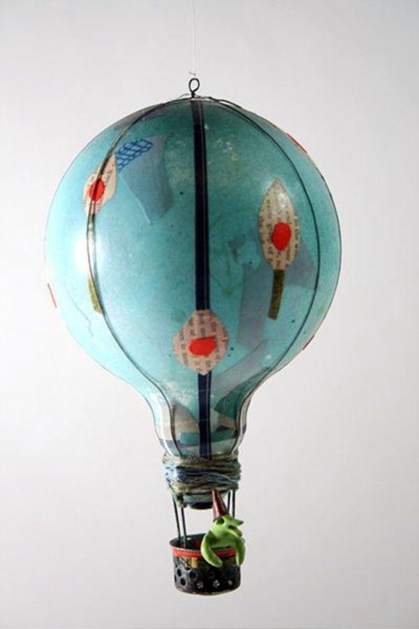 Воздушные шары из старых лампочек. поделки из лампочек своими руками