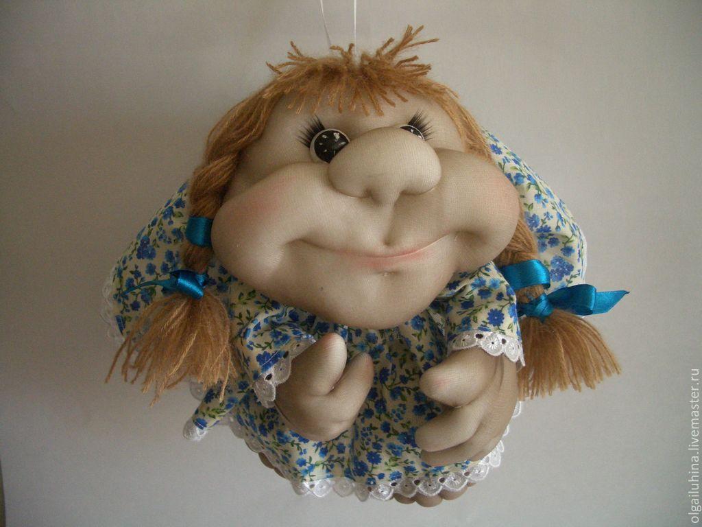 Кукла попик в чулочно-текстильной технике