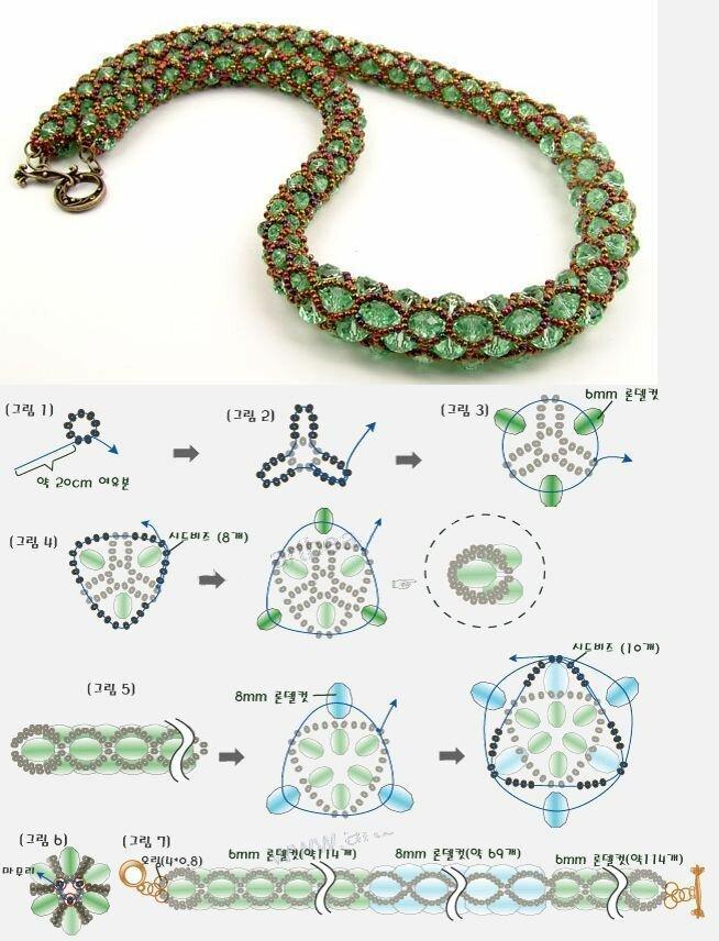 Как сделать браслет-жгут из бисера? схема плетения браслета. пошаговый процесс. как читать схему?