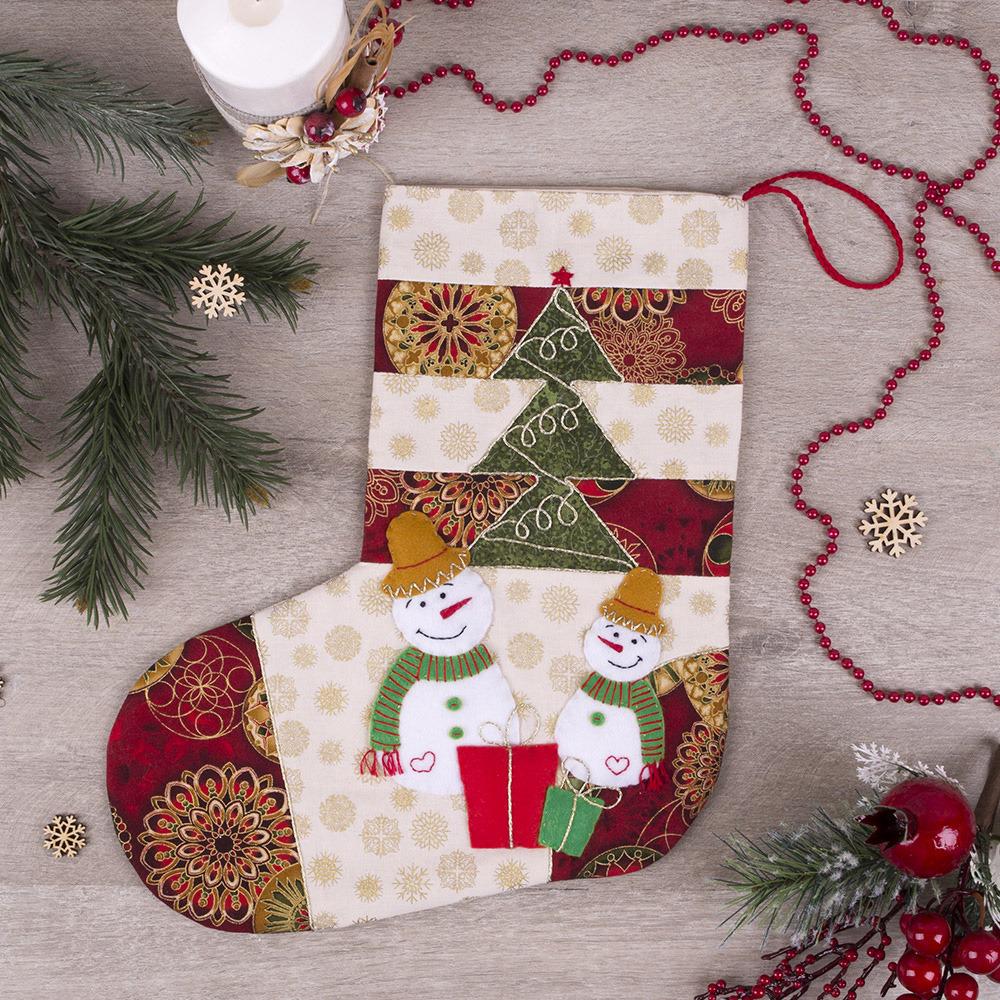 Новогодний сапожок своими руками: как сшить из фетра сапог на рождество, шаблоны выкройки | все о рукоделии