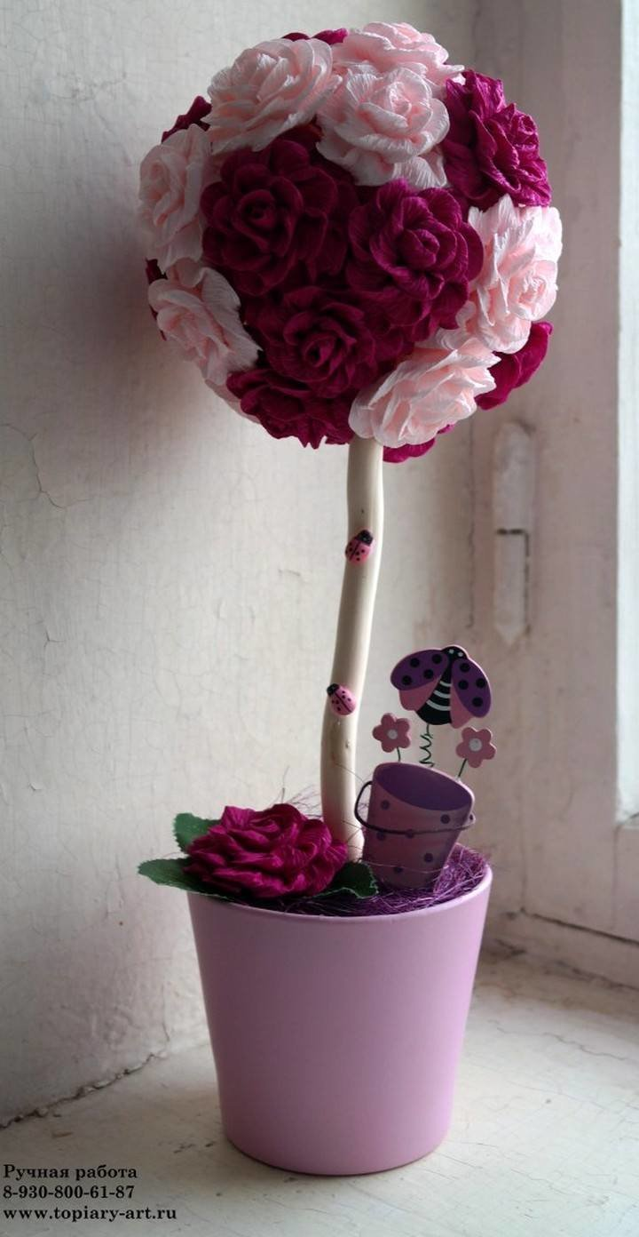 Дерево счастья из роз