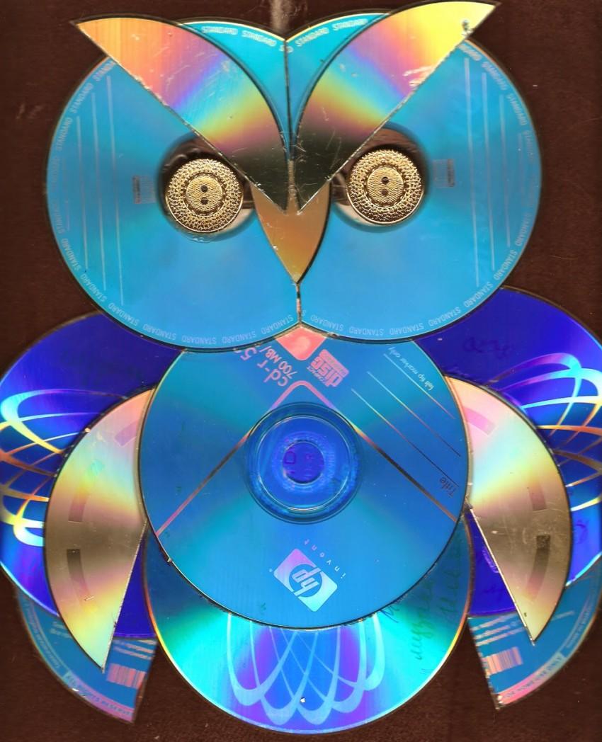 ᐉ мозаичная картина из дисков голуби - своими руками -