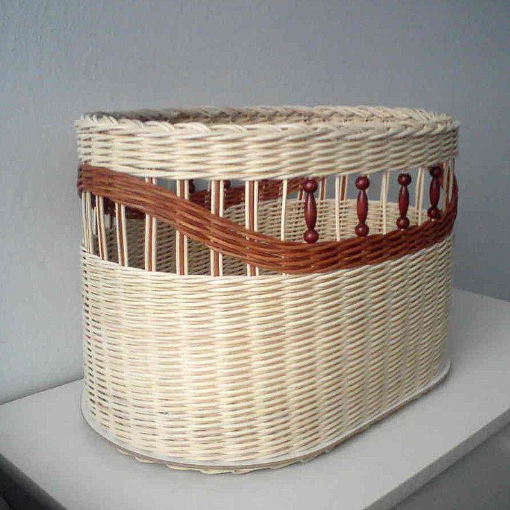 Корзины для белья из газетных трубочек: мастер-класс по плетению бельевых и других корзин с крышкой и без нее своими руками