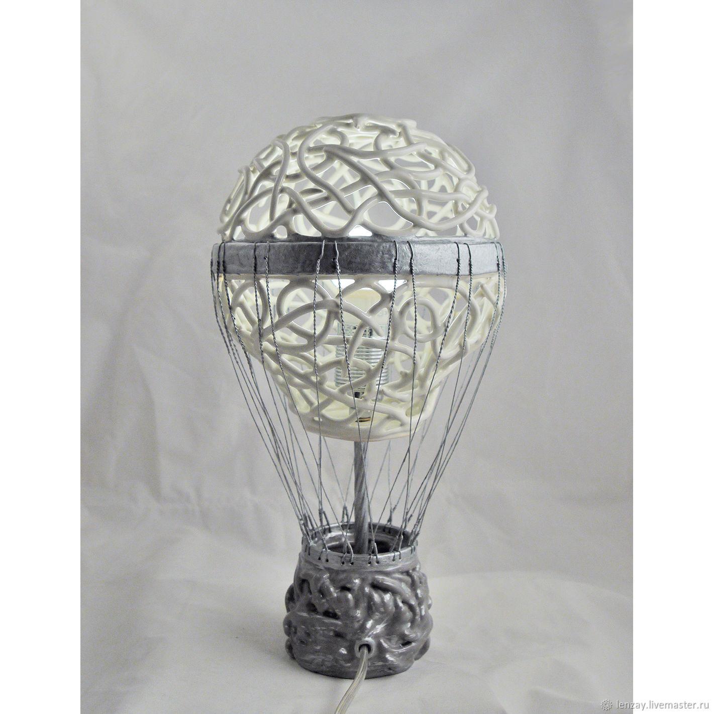"""Абажур-воздушный шар для лампы в детской из того что под рукой - журнал """"сам себе изобретатель"""""""