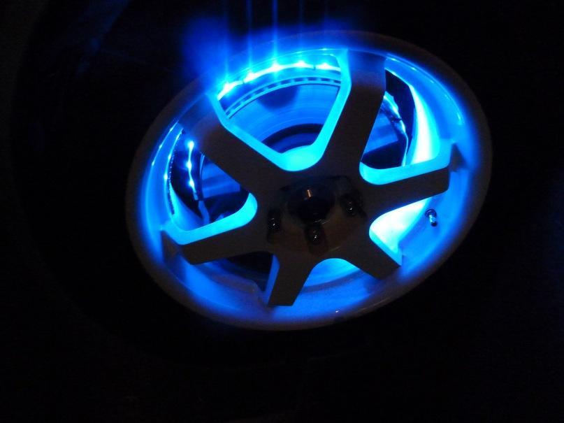 Подсветка колёс своими руками – модный аксессуар