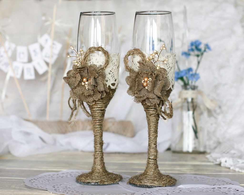 Как украсить бокалы на свадьбу 2020-2021? топ-10 трендов в оформлении свадебных бокалов   beautylooks