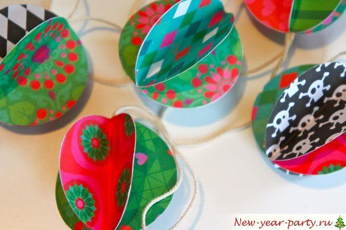 Новогодние поделки своими руками из упаковочной бумаги. елочный шар из упаковочной бумаги