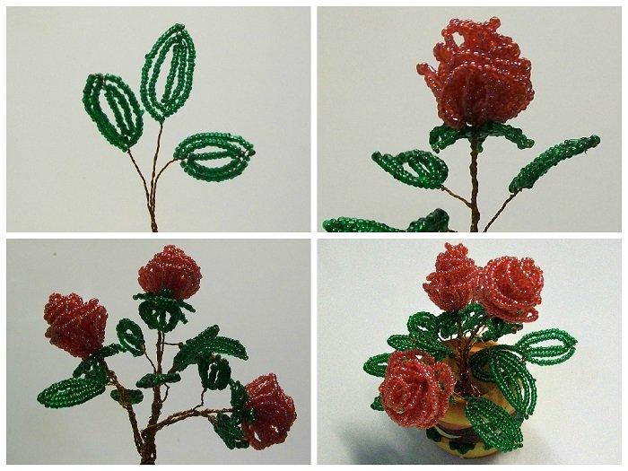 Цветы из бисера для начинающих своими руками