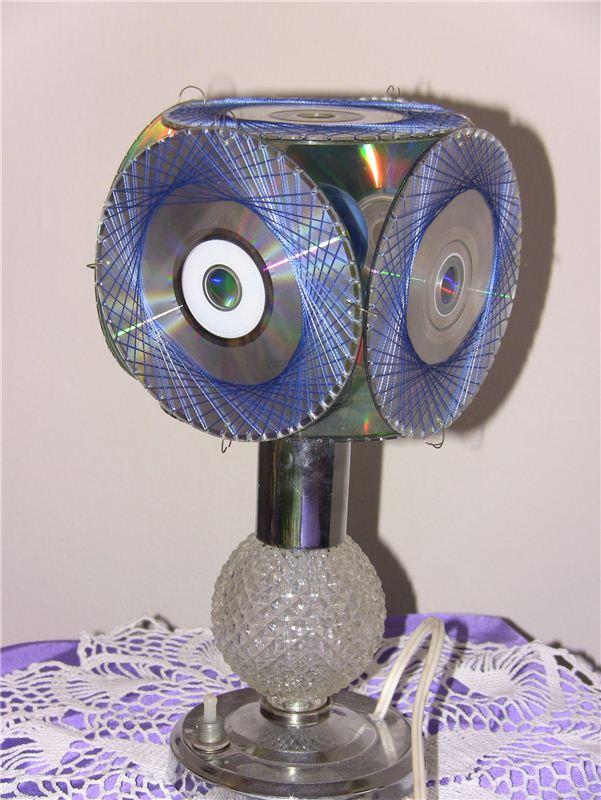 Поделки из дисков: 95 фото ярких и красивых игрушек и элементов интерьера