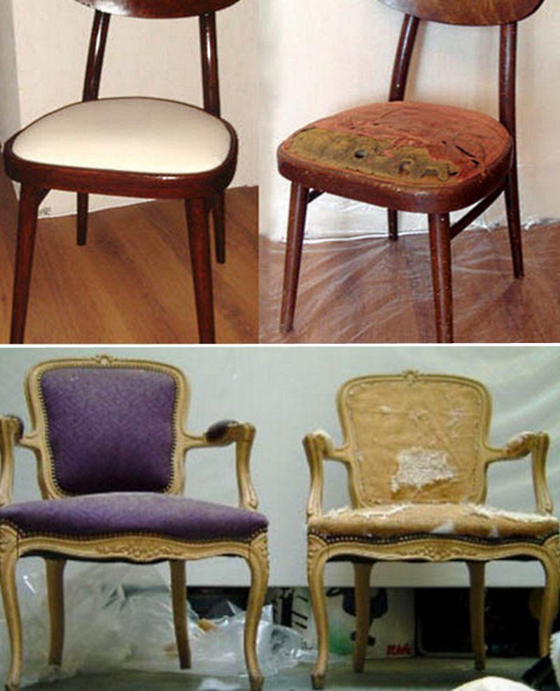 Перетяжка старого кресла — реставрация обивки своими руками