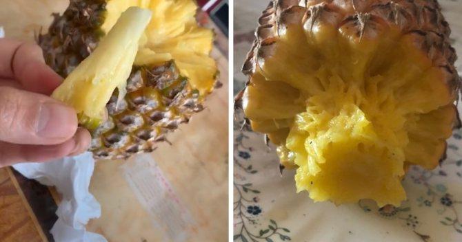 Как чистить ананас в домашних условиях правильно ножом, как очистить и разделать