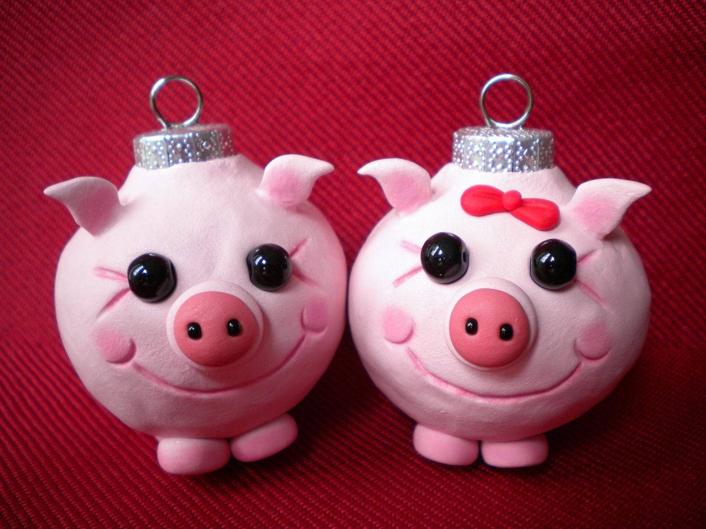 Поросята, свинки из пластилина, фигурки из мастики