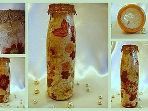 Декор предметов мастер-класс аппликация декупаж лепка мк новая жизнь старой вазы
