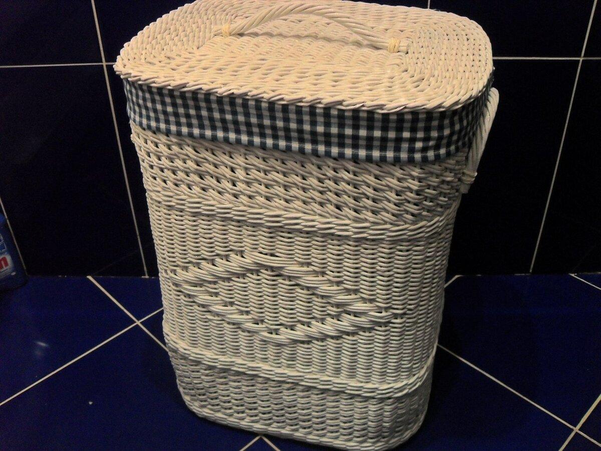 Как сплести корзину для белья из газетных трубочек? мастер-класс, плетение изделия с крышкой своими руками