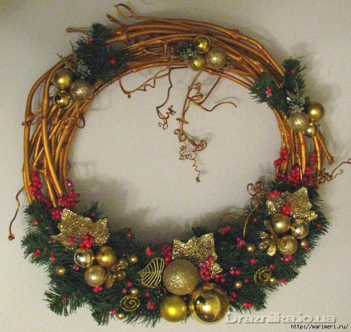 Новогодние украшения своими руками: 3 рождественских венка . как сделать новогодний венок своими руками - мастер-класс с фото.