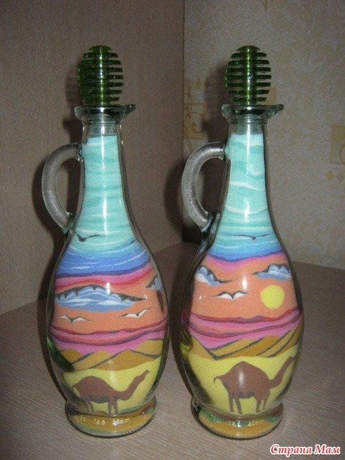 Декор предметов мастер-класс насыпание мастер-класс бутылочка с солью бутылки стеклянные гуашь соль