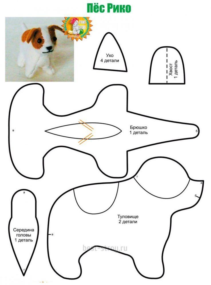 Собачка своими руками: выкройки, описание, видео мк, 20 моделей