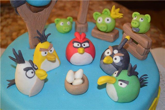Лепка птицы из соленого теста для детей. птички angry birds из соленого теста