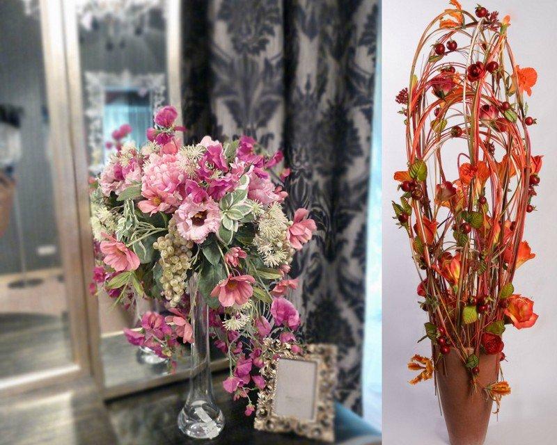 Композиция из цветной соли и искусственных цветов. изготовление топиария из цветов (100 фото) композиция из искусственных роз своими руками
