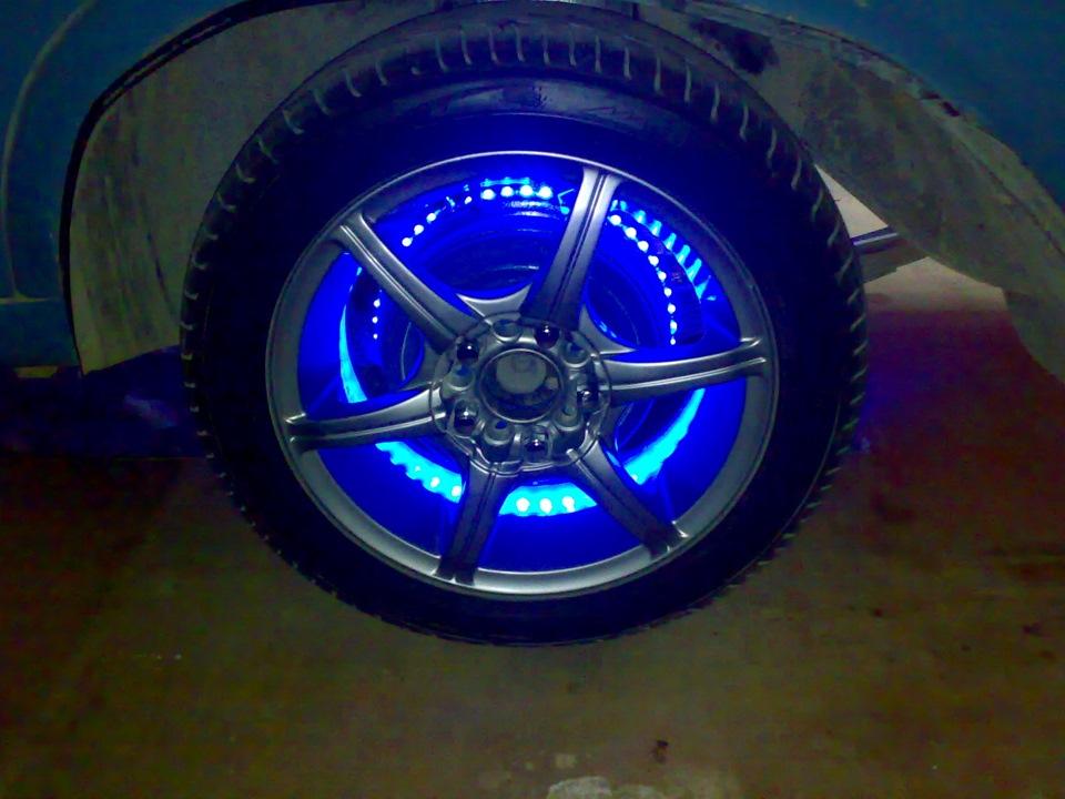 Как сделать подсветку колес автомобиля своими руками? методы установки подсветки дисков