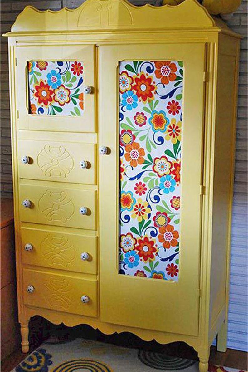 Как обновить или покрасить старый шкаф или шкаф-купе: варианты реставрации своими руками