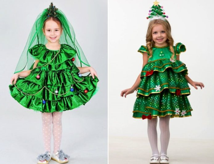 Костюм елки для девочки своими руками: 10 примеров с фото и видео мастер-классами