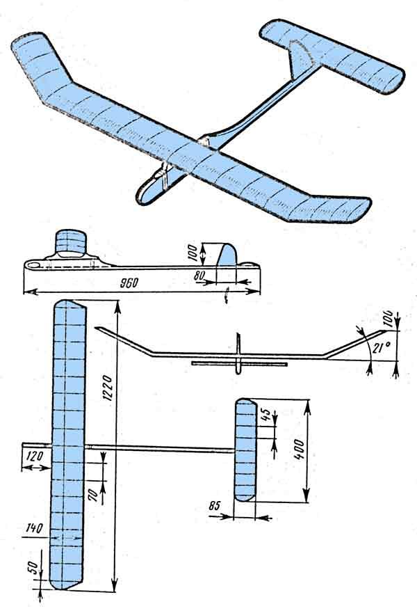 Самолет из потолочной плитки — своими руками