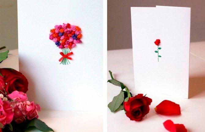 Как сделать открытку своими руками из бумаги с днем рождения, к новому году, папе, маме на 8 марта, ко дню святого валентина. мастер класс пошагово с фото