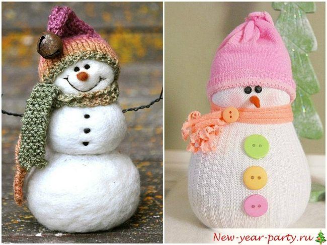 Снеговик своими руками на новый год: 95 фото поделки, мастер классы, видео пошаговые инструкции