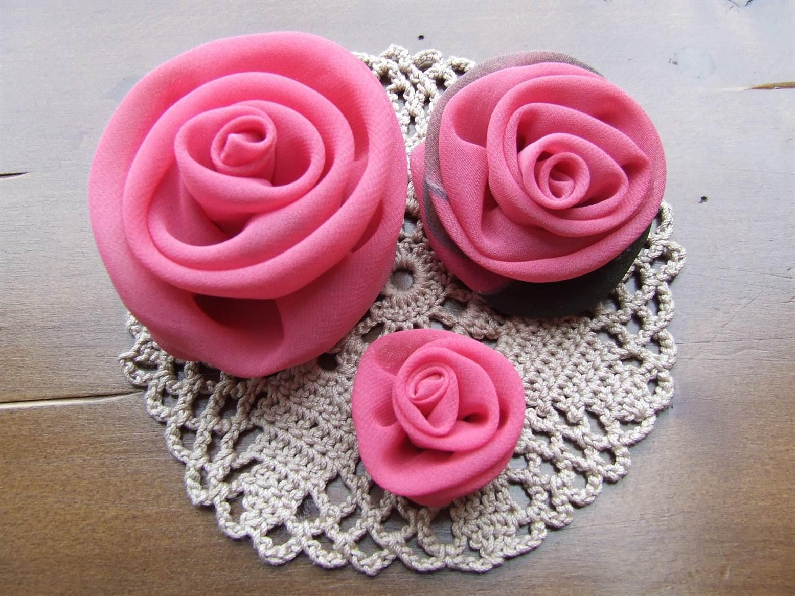Цветы из ткани своими руками для начинающих: роза из ткани