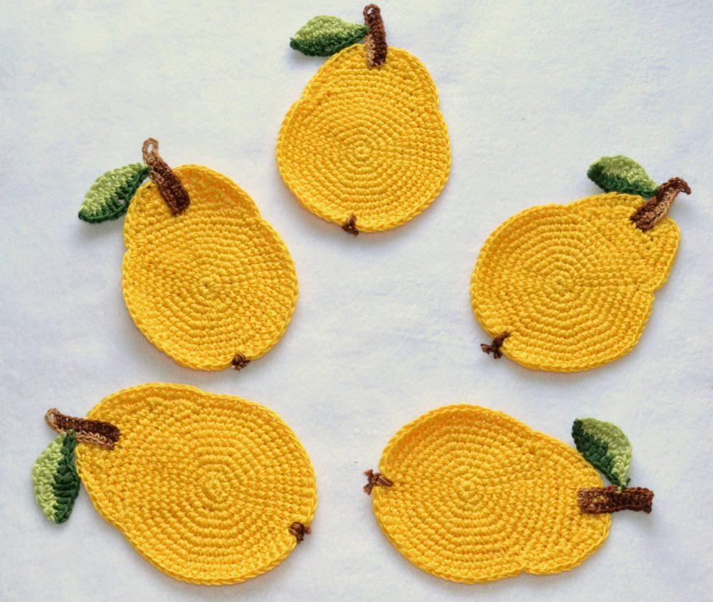 Лимонно-лаймовые подставки из фетра под горячее: мастер-класс с выкройкой | крестик