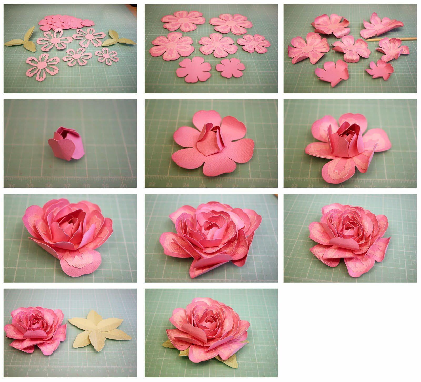 Мк роза из гофрированной бумаги. | страна мастеров