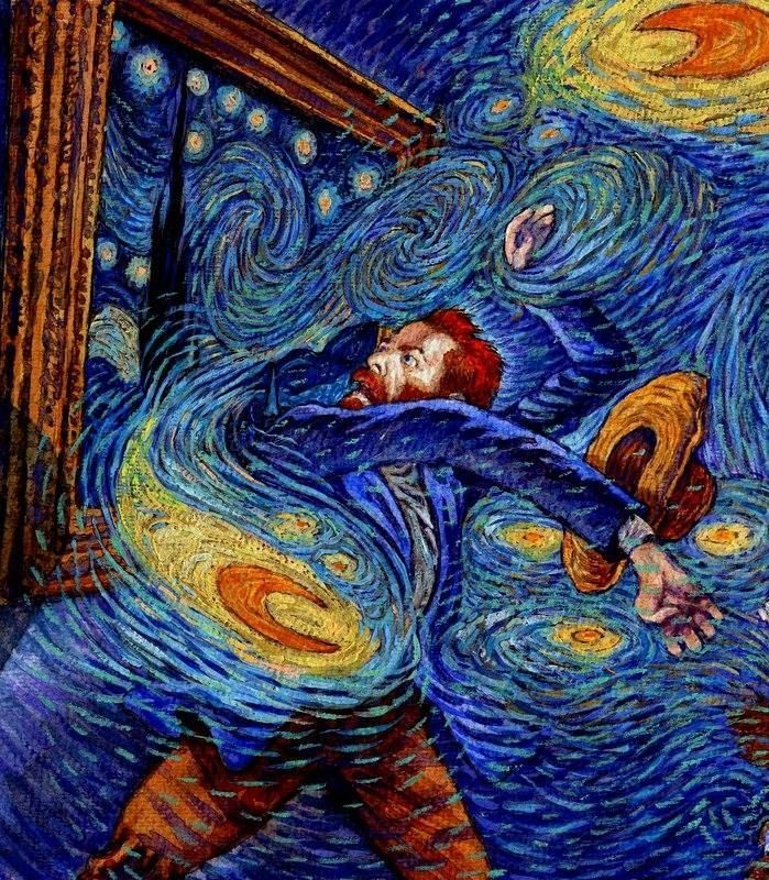 Стилизации под картину винсента ван гога — своими руками