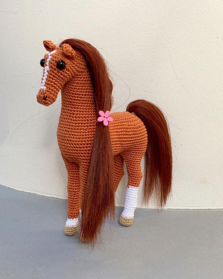 Лошадка амигуруми: как связать лошадь из плюшевой пряжи? описание и схемы вязания крючком