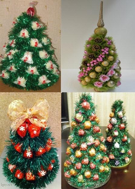 Букет из конфет своими руками на новый год. новогодние подарки – своими руками: елки и букеты из конфет.