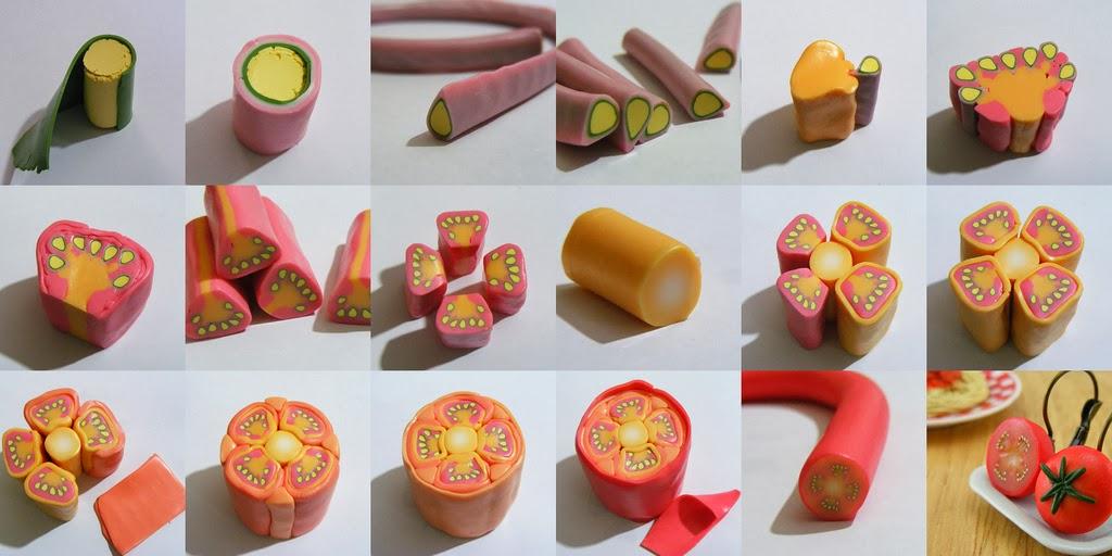 Уроки лепки еды для кукол из полимерной глины и пластилина