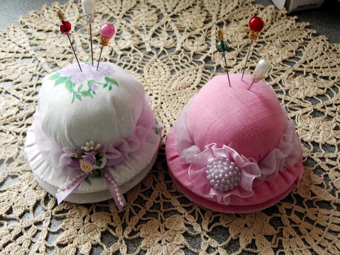 Мастер-класс с пошаговым фото «изготовление игольницы-шляпки» (5 класс)