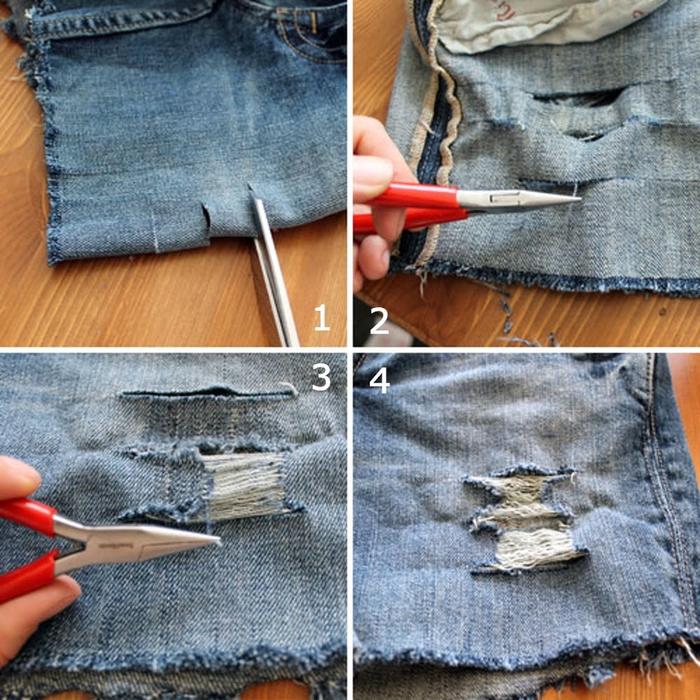 Способы подшива джинсов своими руками без швейной машины