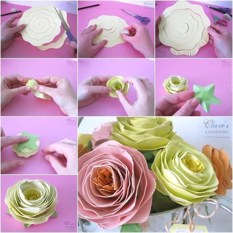 Бутоны роз из гофрированной бумаги с конфетами пошагово: 3 вида