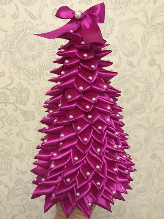 Рождественская елка из лент своими руками, фото, идеи, мастер класс