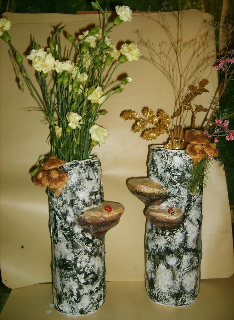 Интерьерная ваза в технике папье-маше | страна мастеров