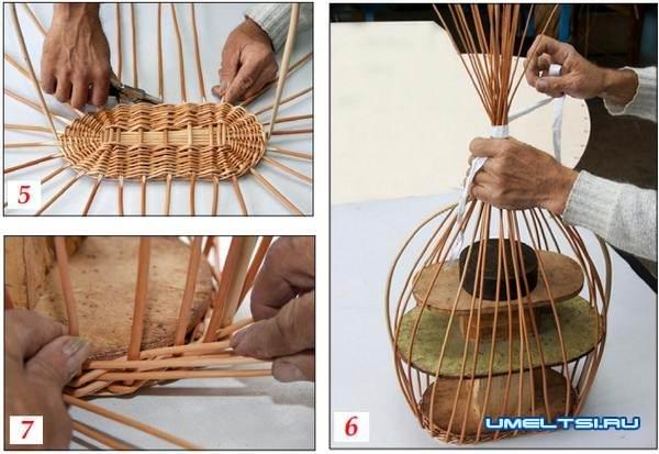 Плетение корзин из ивы для начинающих
