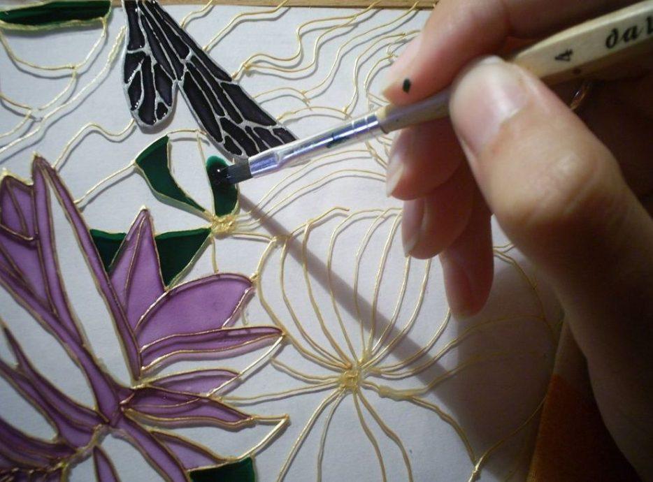 Витраж на стекле своими руками. как правильно нарисовать витраж на стекле