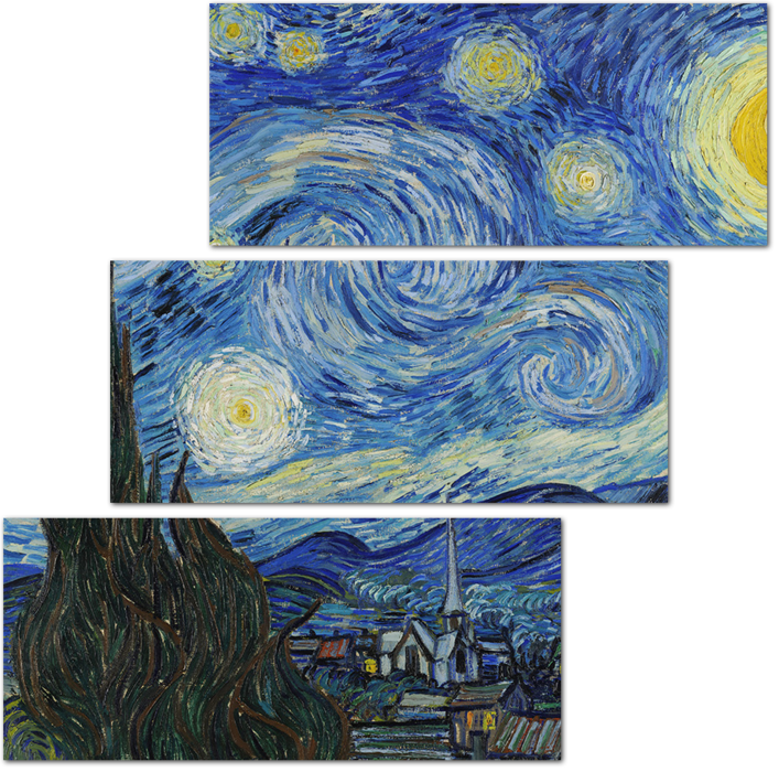 Ван гог картины рисовал пальцами. стилизации под картину винсента ван гога. процесс написания картины
