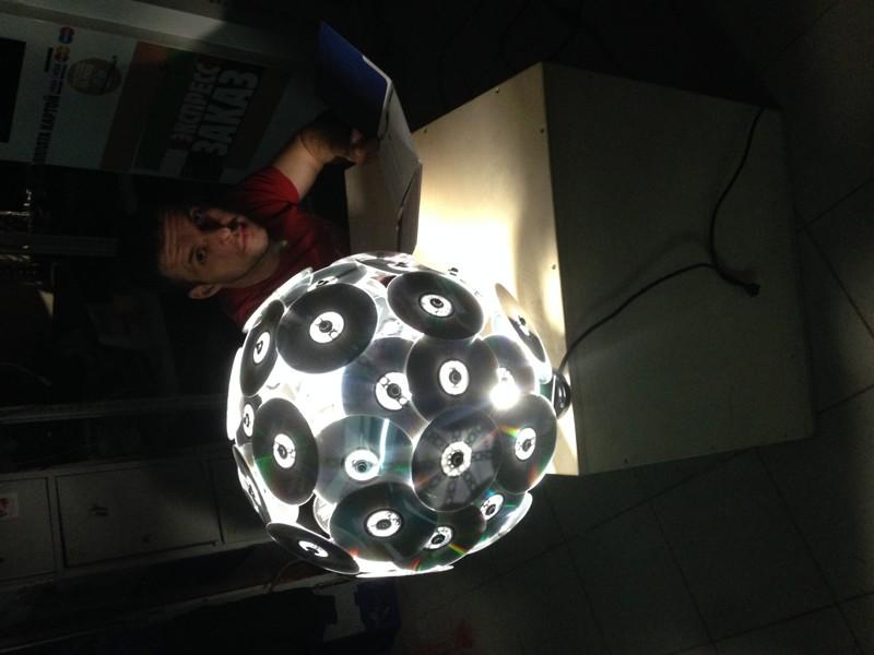 Как сделать шар из дисков своими руками. диско шар. дискошар из компакт-дисков